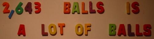 2643ballsisalotofballs