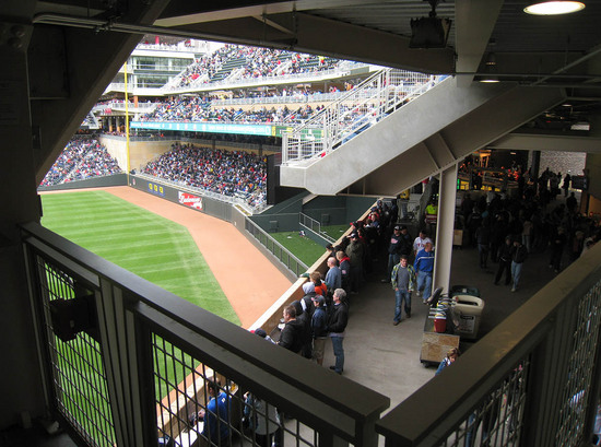 Theres A Standing Room Area Directly Behind The Batters Eye 42 More Target Field FunkinessJPG