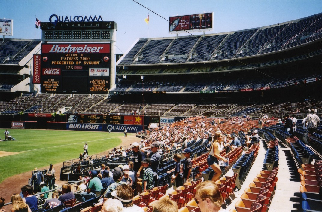7/17/00 and 7/18/00 at Qualcomm Stadium | The Baseball ... Qualcomm Stadium Baseball