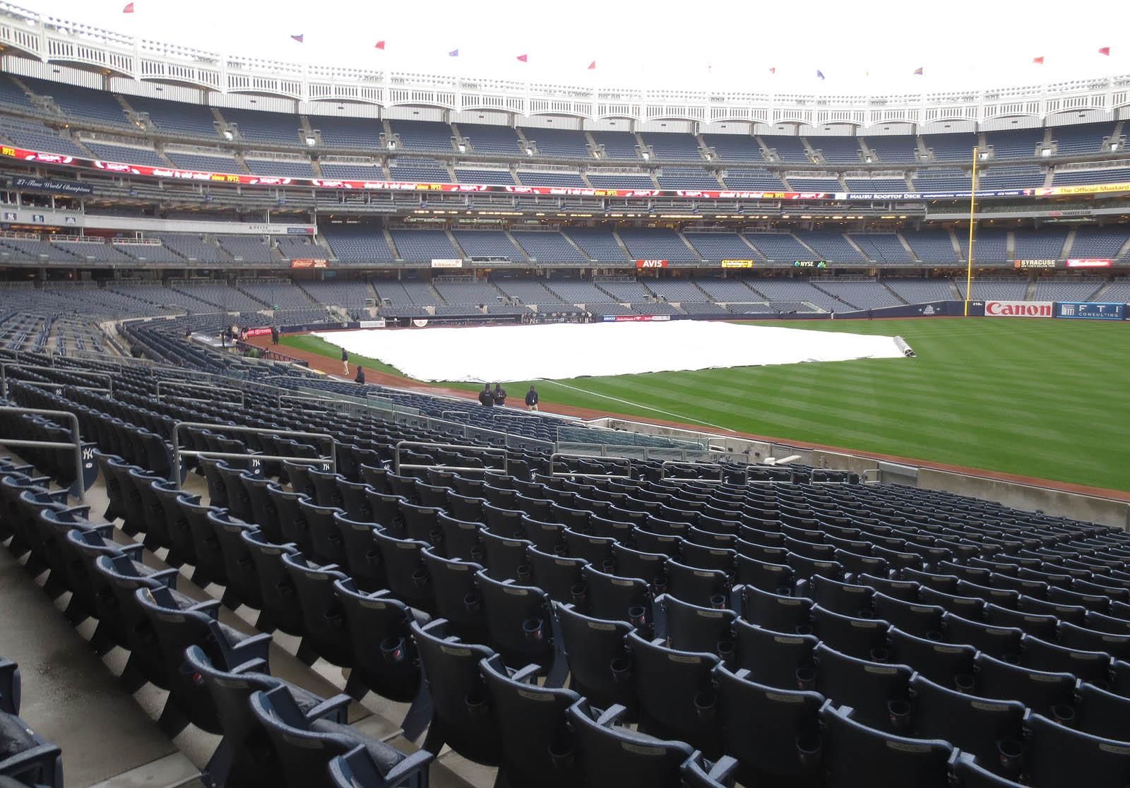 Empty Yankee Stadium At Night The Yankees were nowhere in