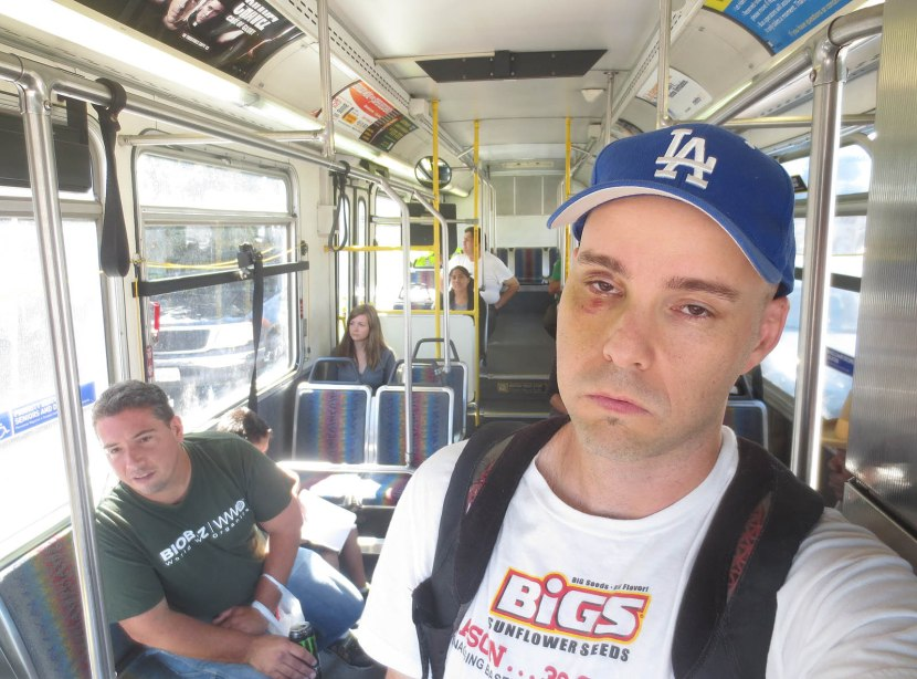 10_zack_on_bus_to_dodger_stadium