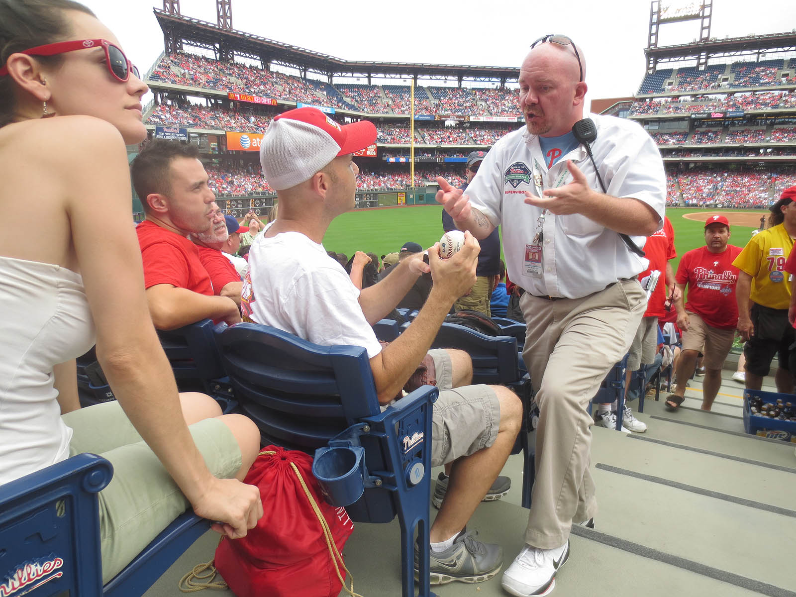 at citizens bank park the baseball collector for the entire day i d been thinking about looking for the security supervisor