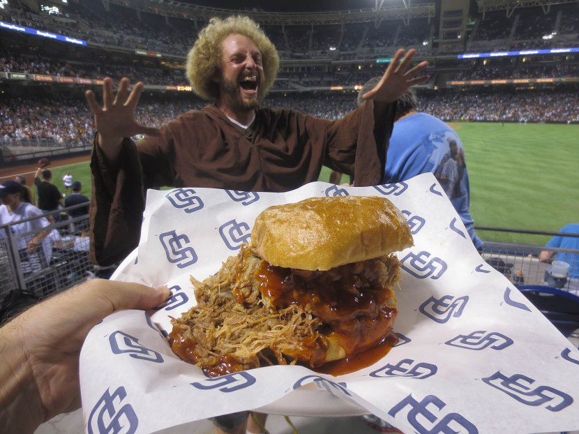 35_friar_photobombing_my_pulled_pork_sandwich