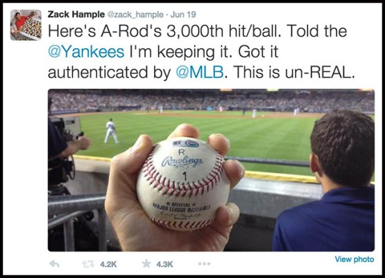43_first_tweet_of_arods_3000th_hit