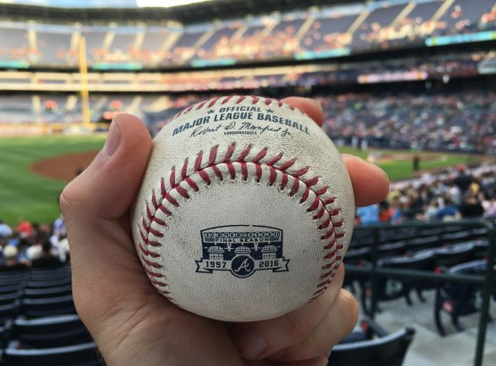 35_ball8917_gregor_blanco_foul_ball_with_commemorative_turner_field_final_season_logo