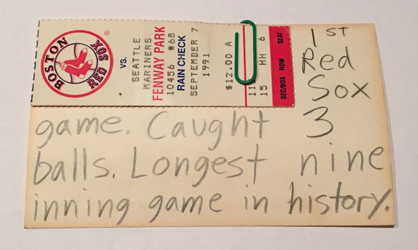 8_fenway_ticket_and_notes_09_07_91